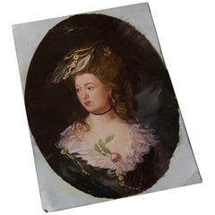 ON SALE NOW! Beautiful 18th Century Depiction of Marie Antoinette on Copper