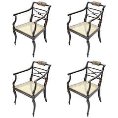 Set of Four Painted Salon Chairs