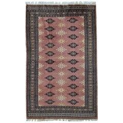 Handmade Vintage Uzbek Bukhara Rug, 1960s, 1C538