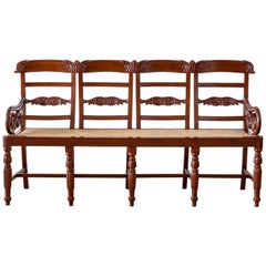 Antique Indo-Portuguese or Portuguese Colonial Mahogany Settee