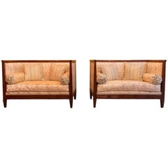 French Directoire Period, Pair of Sofas, Jacob Freres Rue Meslée, circa 1798