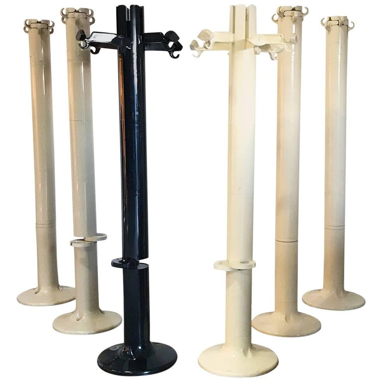 "1972, Giancarlo Piretti for Castelli, Set of Iconic ""Planta"" ABS Coat Stands"