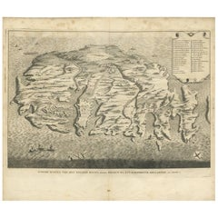 Antique Map of the Island of Malta by A. de Putter, 1729