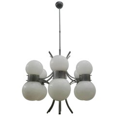 Original Chandelier, Designed by Gaetano Sciolari in the 1970s