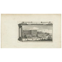 Antique Print of the Palace of the Vatican, Rome by M. de Bruyn, 1779