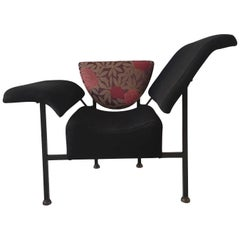 Black Sculptural Easy Chair, 'Greetings from Holland', by Rob Eckhardt, 1980s