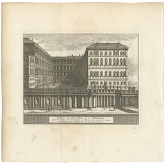 Antique Print of the Apostolic Palace in Rome by M. de Bruyn, 1779