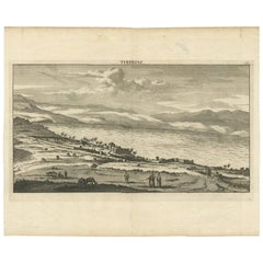 Antique Print of Tiberias 'Israel' by C. le Brun, 1700