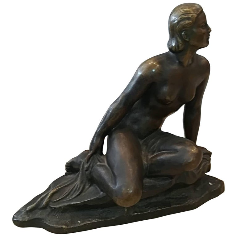 Art Deco Ugo Cipriani Bronze Sculpture, circa 1930 For Sale