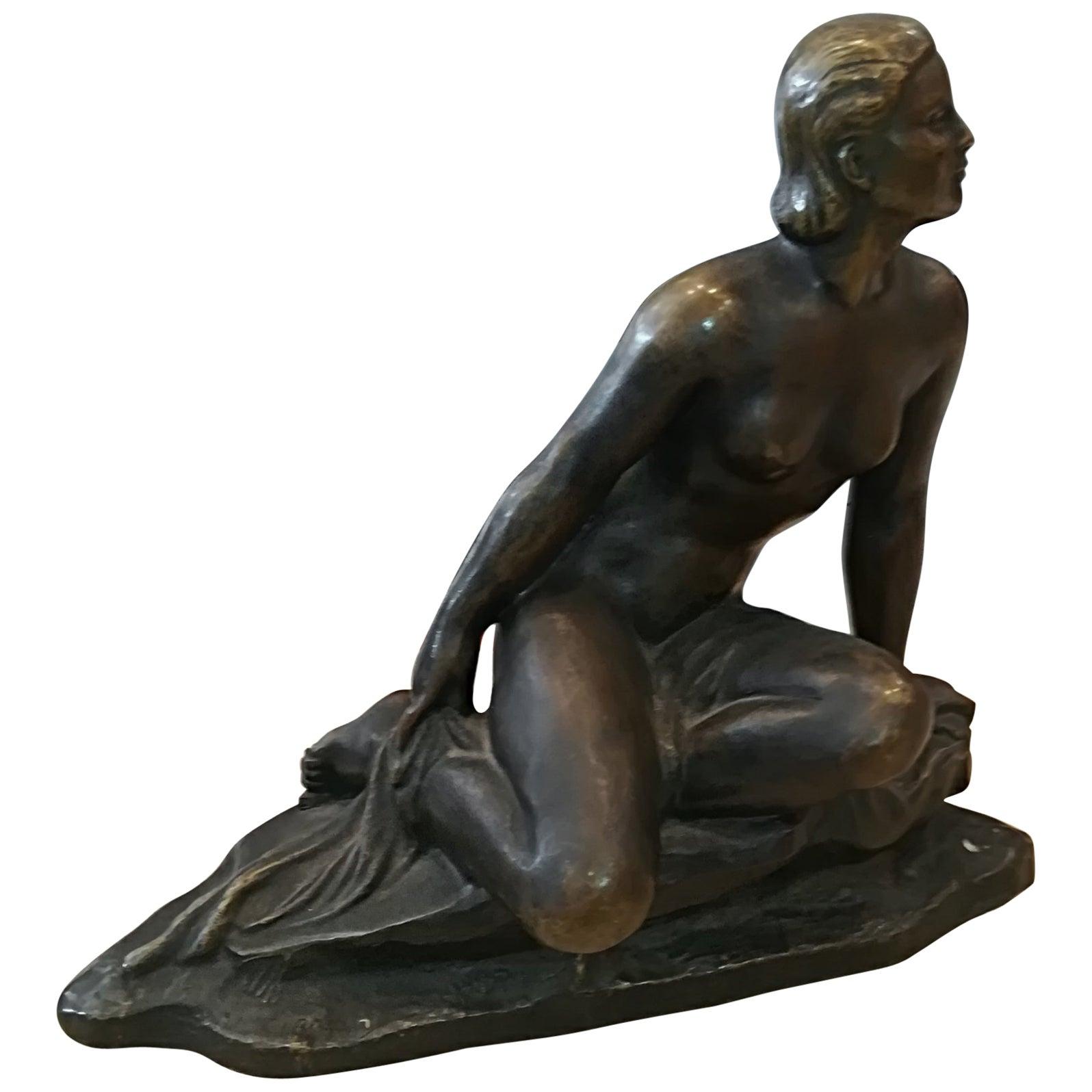 Art Deco Ugo Cipriani Bronze Sculpture, circa 1930