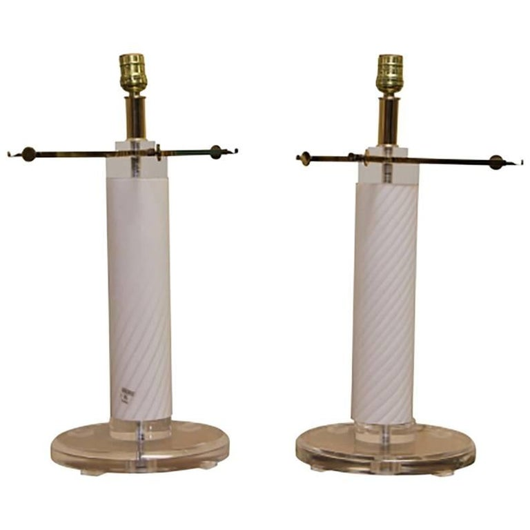 Pair of Vetri Murano Lamp Bases