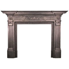 Antique Late 19th Century Victorian Cast Iron Fireplace Surround