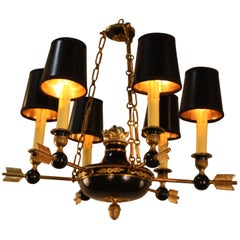 French Empire Style Bronze Chandelier