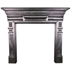 Antique Late 19th Century Cast Iron Fireplace Surround
