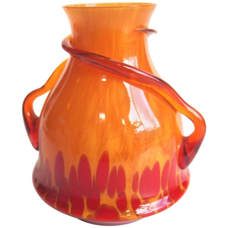 Art Deco Kralik Handled Vase