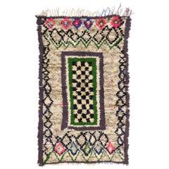 20569 Vintage Berber Moroccan Boucherouite Rug