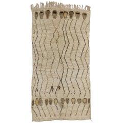 Vintage Berber Moroccan Rug, Neutral Color Moroccan Rug