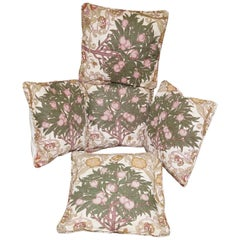 Matching Set of Liberty's London Scatter Cushions Part of a Large Suite