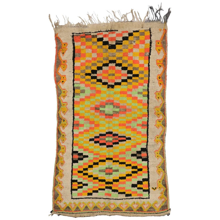 Vintage Berber Moroccan Rug For Sale
