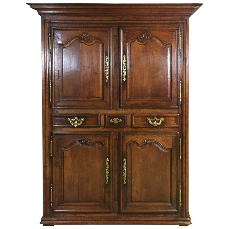 18th Century Louis XIV Oak Buffet Four Doors