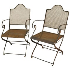 Pair of Later 19th Century Spanish Garden Chairs