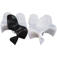 Set of Six Panton Chairs by Verner Panton for Vitra