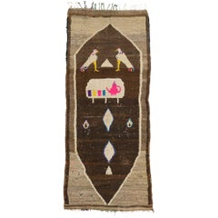Vintage Berber Moroccan Rug Runner with Modern Tribal Style