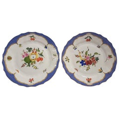 Herend Hand-Painted Porcelain Pair of Decorative Dishes