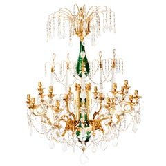 Russian Rock Crystal Chandelier, Early 19th Century