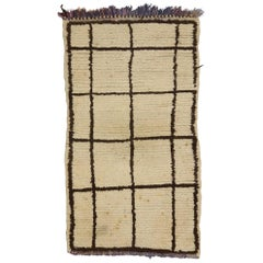 Vintage Berber Moroccan Accent Rug with Modern Style