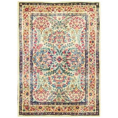 Gorgeous Antique Persian Sampler Laver Kerman Rug