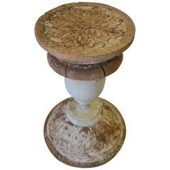 Carved Wood Element Pedestal