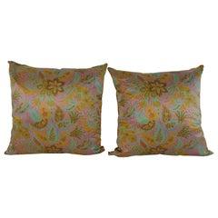 Pair of Ungaro Couture Silk Pillows