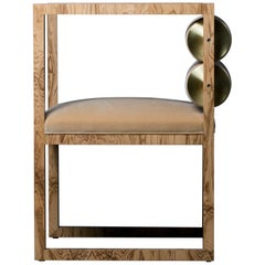 Canon Armchair in Camel from the Qualia Collection by Azadeh Shladovsky