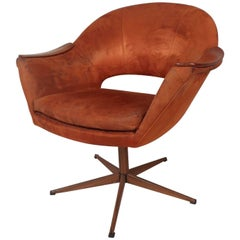 Unique Mid-Century Swivel Lounge Chair