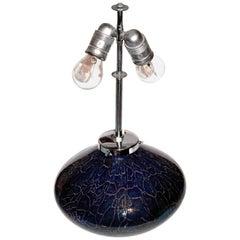 XXL Vintage WMF Ikora Glass and Chrome Sphere Table by Karl Wiedmann