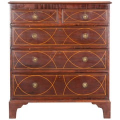 English Early 19th Century Mahogany Chest of Drawers