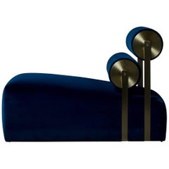 Gravity Lounge Chair in Indigo from the Qualia Collection by Azadeh Shladovsky