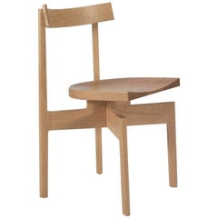 100xbtr Contemporary Stoolback Wood Dining Chair in White Oak