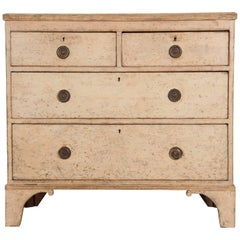 English 19th Century Painted Chest of Drawers