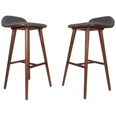 Pair of Contemporary Modern Bar Stools