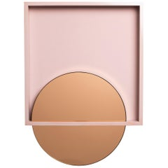 Skeptic Wall Mirror in Rose from the Qualia Collection by Azadeh Shladovsky