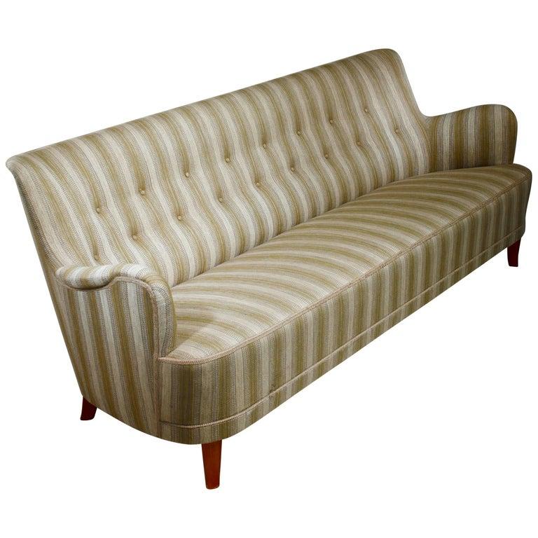 Carl Malmsten Rare Four-Seat Sofa, Sweden For Sale