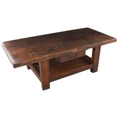 French 19th Century Beechwood Work Coffee Table