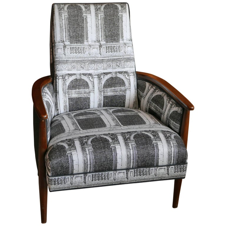 Adrian Pearsall Chair With Walnut Frame Upholstered In