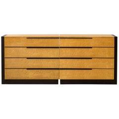 Gilbert Rohde Ash Burl Cabinets for Herman Miller