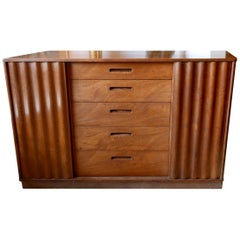 Edward Wormley Chest Designed for Dunbar with Sliding Front Doors, circa 1950s