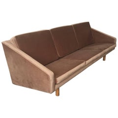 Wonderful Italian Sofa Attributed to Gio Ponti and Completely Re-Upholstered