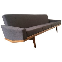 Rare Four-Seat No. 221 Sofa by H. W. Klein, Professional Re-Upholstered