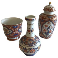 Collection of Three Imari Porcelain Pieces